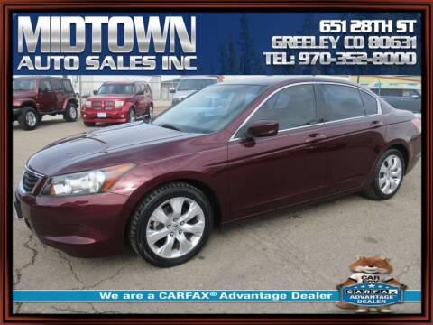2008 Honda Accord for sale at MIDTOWN AUTO SALES INC in Greeley CO