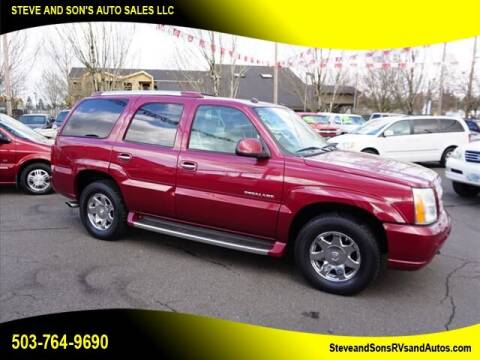2004 Cadillac Escalade for sale at Steve & Sons Auto Sales in Happy Valley OR