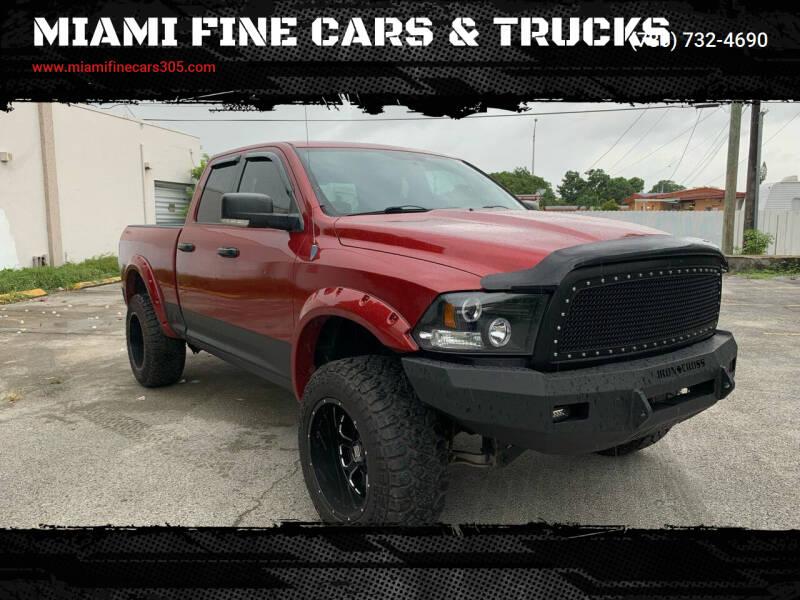 2010 Dodge Ram Pickup 1500 for sale at MIAMI FINE CARS & TRUCKS in Hialeah FL