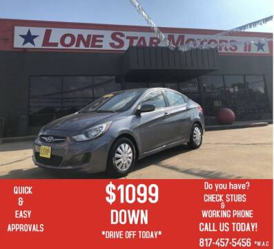 2014 Hyundai Accent for sale at LONE STAR MOTORS II in Fort Worth TX