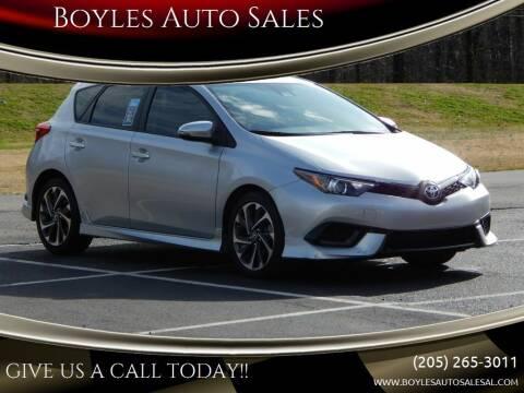 2018 Toyota Corolla iM for sale at Boyles Auto Sales in Jasper AL