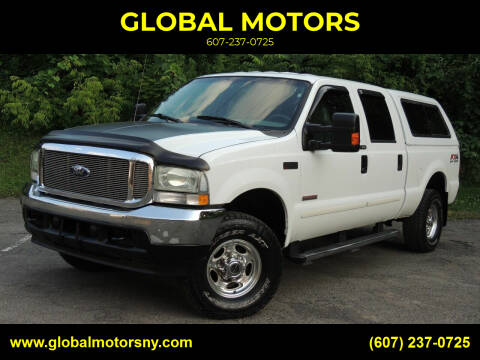 2004 Ford F-250 Super Duty for sale at GLOBAL MOTORS in Binghamton NY