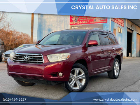 2008 Toyota Highlander for sale at Crystal Auto Sales Inc in Nashville TN