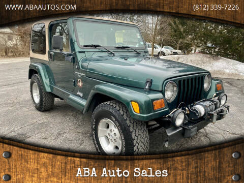 2000 Jeep Wrangler for sale at ABA Auto Sales in Bloomington IN