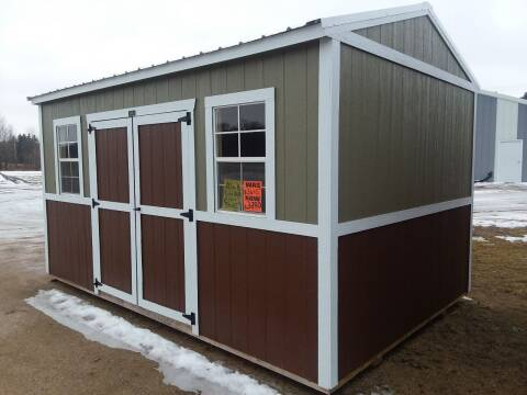 2019 Premier  Building SOLD 10x16 Urethane Side Utility for sale at Dave's Auto Sales & Service - Premier Buildings in Weyauwega WI