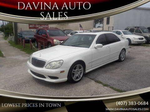 2006 Mercedes-Benz S-Class for sale at DAVINA AUTO SALES in Casselberry FL