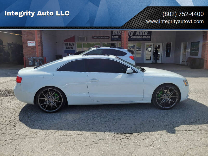 2013 Audi A5 for sale at Integrity Auto LLC - Integrity Auto 2.0 in St. Albans VT