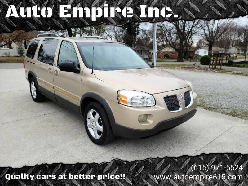 2006 Pontiac Montana SV6 for sale at Auto Empire Inc. in Murfreesboro TN