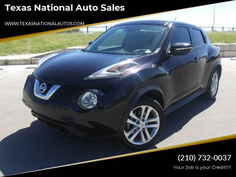 2015 Nissan JUKE for sale at Texas National Auto Sales in San Antonio TX