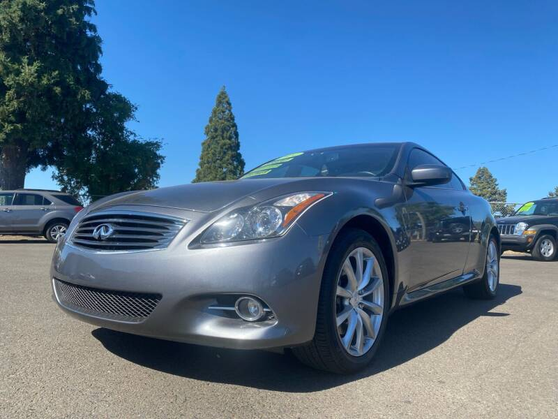 2014 Infiniti Q60 Coupe for sale at Pacific Auto LLC in Woodburn OR