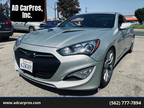 2013 Hyundai Genesis Coupe for sale at AD CarPros, Inc. in Whittier CA