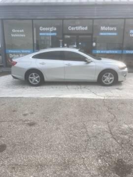 2016 Chevrolet Malibu for sale at Georgia Certified Motors in Stockbridge GA