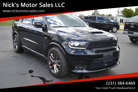 2019 Dodge Durango for sale at Nick's Motor Sales LLC in Kalkaska MI