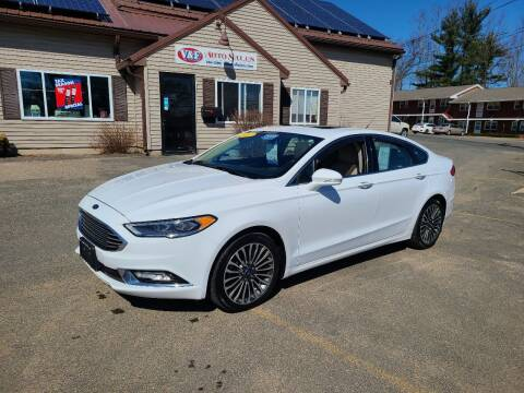 2017 Ford Fusion for sale at V & F Auto Sales in Agawam MA