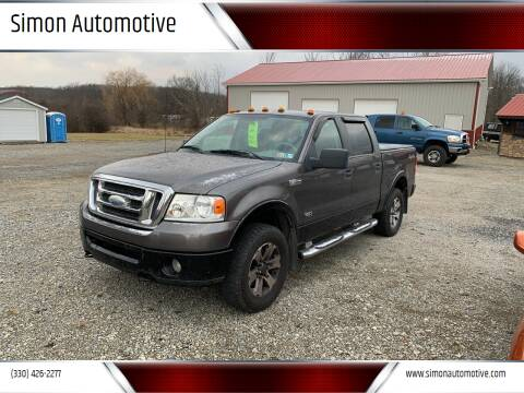 2008 Ford F-150 for sale at Simon Automotive in East Palestine OH