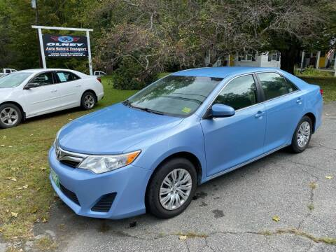 2012 Toyota Camry for sale at Olney Auto Sales in Springfield VT