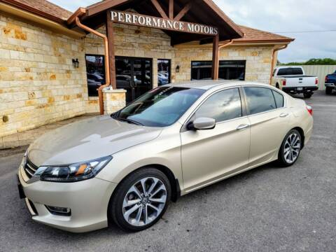 2013 Honda Accord for sale at Performance Motors Killeen Second Chance in Killeen TX