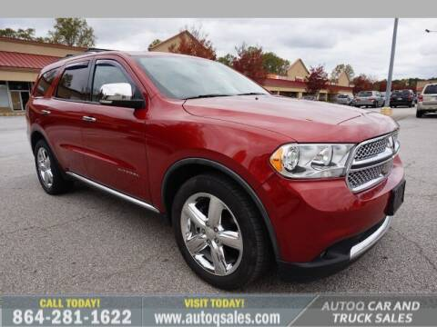 2011 Dodge Durango for sale at Auto Q Car and Truck Sales in Mauldin SC