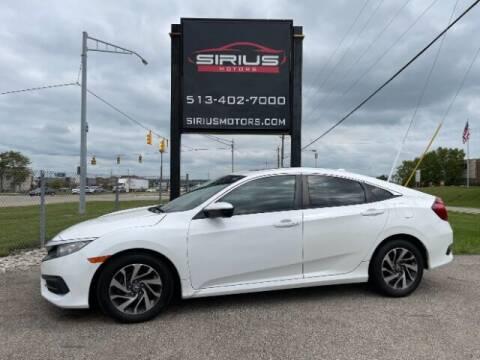 2018 Honda Civic for sale at SIRIUS MOTORS INC in Monroe OH