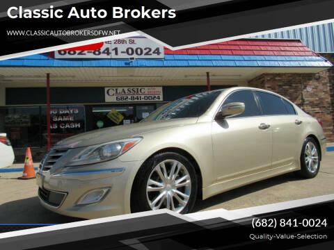2012 Hyundai Genesis for sale at Classic Auto Brokers in Haltom City TX