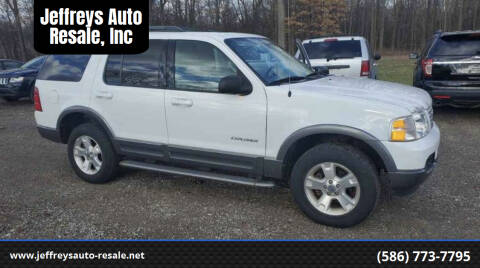 2004 Ford Explorer for sale at Jeffreys Auto Resale, Inc in Clinton Township MI