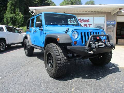 2012 Jeep Wrangler Unlimited for sale at Hibriten Auto Mart in Lenoir NC