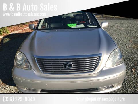 2004 Lexus LS 430 for sale at B & B Auto Sales in Burlington NC