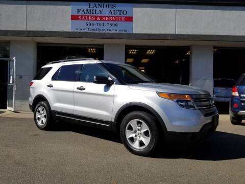 2014 Ford Explorer for sale at Landes Family Auto Sales in Attleboro MA