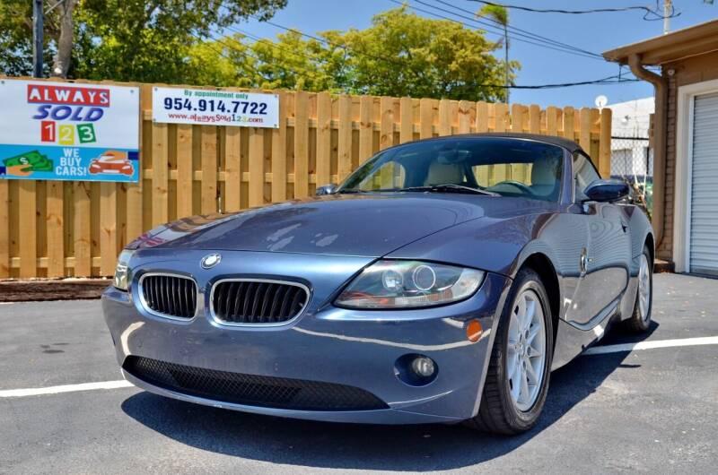 2005 BMW Z4 for sale at ALWAYSSOLD123 INC in Fort Lauderdale FL