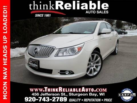 2012 Buick LaCrosse for sale at RELIABLE AUTOMOBILE SALES, INC in Sturgeon Bay WI