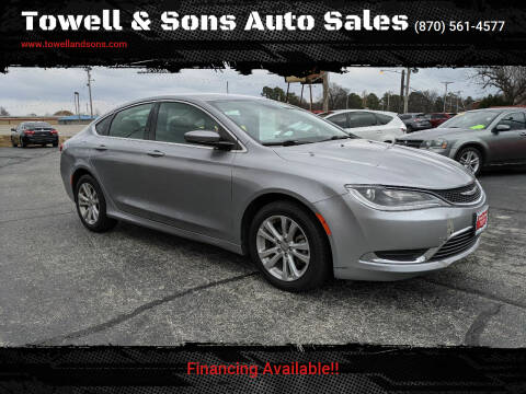 2016 Chrysler 200 for sale at Towell & Sons Auto Sales in Manila AR
