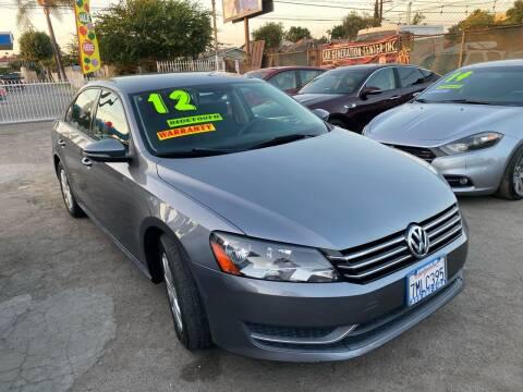 2012 Volkswagen Passat for sale at CAR GENERATION CENTER, INC. in Los Angeles CA