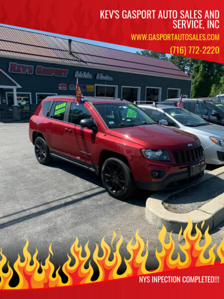 2012 Jeep Compass for sale at KEV'S GASPORT AUTO SALES AND SERVICE, INC in Gasport NY