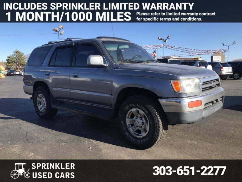 1997 Toyota 4Runner for sale at Sprinkler Used Cars in Longmont CO