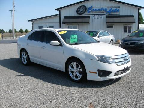 2012 Ford Fusion for sale at Country Auto in Huntsville OH