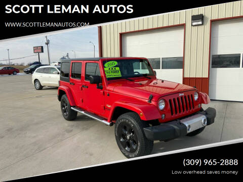 2015 Jeep Wrangler Unlimited for sale at SCOTT LEMAN AUTOS in Goodfield IL