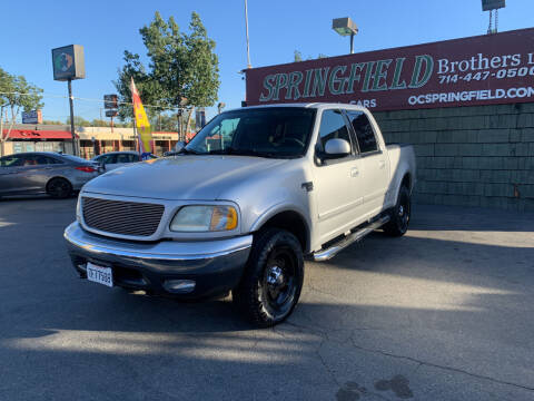 2003 Ford F-150 for sale at SPRINGFIELD BROTHERS LLC in Fullerton CA