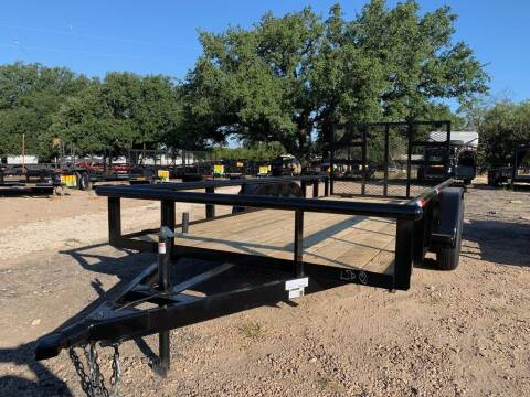 """2021 P & C  -UTILITY 77"""" X 16' -H.DU for sale at LJD Sales in Lampasas TX"""