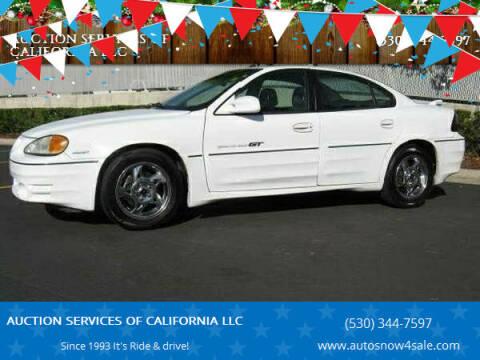 2002 Pontiac Grand Am for sale at AUCTION SERVICES OF CALIFORNIA in El Dorado CA