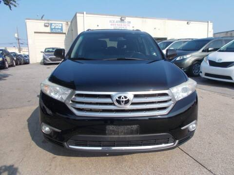 2013 Toyota Highlander for sale at ACH AutoHaus in Dallas TX