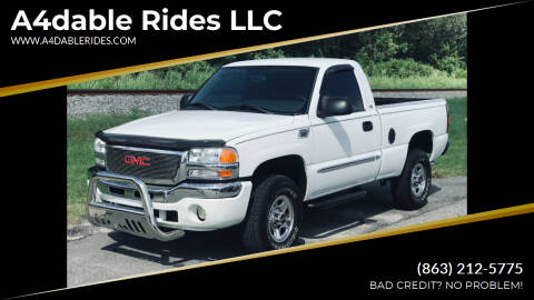 2004 GMC Sierra 1500 for sale at A4dable Rides LLC in Haines City FL
