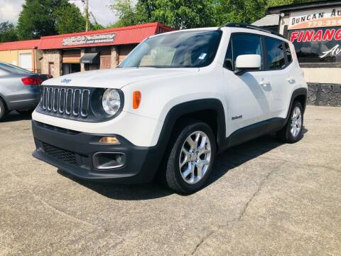 2017 Jeep Renegade for sale at DUNCAN AUTO SALES, INC in Cartersville GA