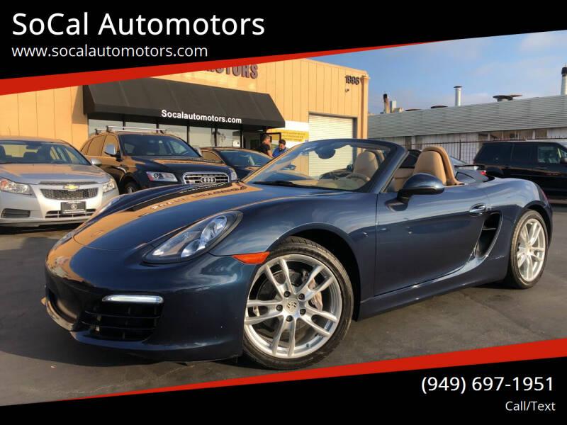 2014 Porsche Boxster for sale at SoCal Auto Motors in Costa Mesa CA