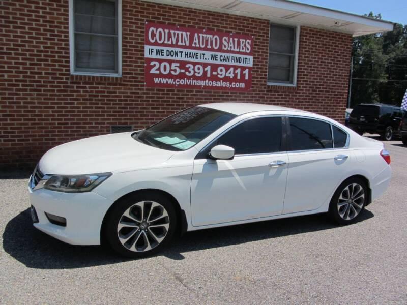 2014 Honda Accord for sale at Colvin Auto Sales in Tuscaloosa AL