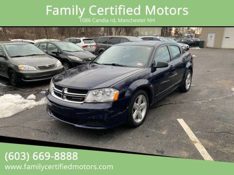 2013 Dodge Avenger for sale at Family Certified Motors in Manchester NH