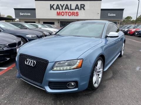 2011 Audi S5 for sale at KAYALAR MOTORS in Houston TX