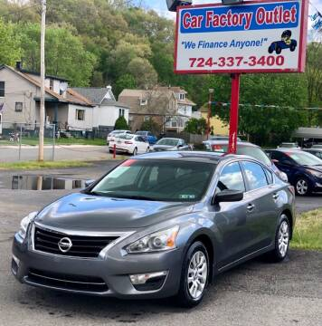 2015 Nissan Altima for sale at Car Factory Outlet in Lower Burrell PA