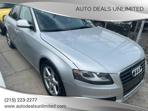 2009 Audi A4 for sale at AUTO DEALS UNLIMITED in Philadelphia PA
