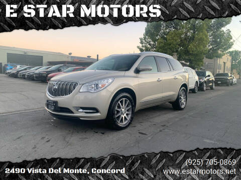 2014 Buick Enclave for sale at E STAR MOTORS in Concord CA