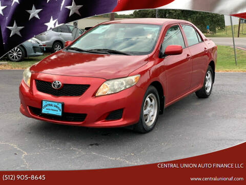 2010 Toyota Corolla for sale at Central Union Auto Finance LLC in Austin TX